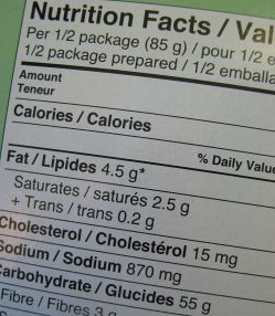 read nutritional food labels