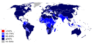 Global Immunisation Rates in 2010
